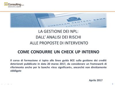 Copertina Check NPL